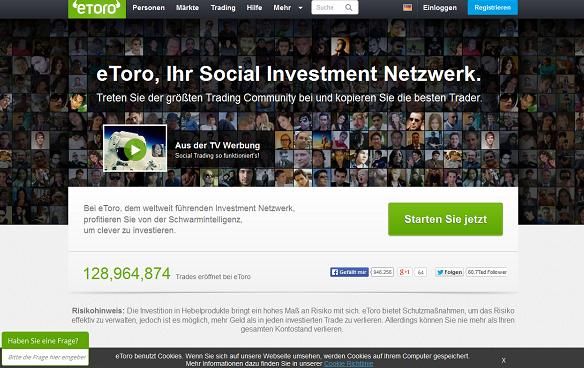 eToro - Der Broker legt großen Wert auf die Community und fördert das Social-Trading