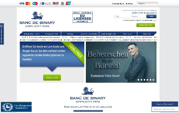 Webseite des Brokers