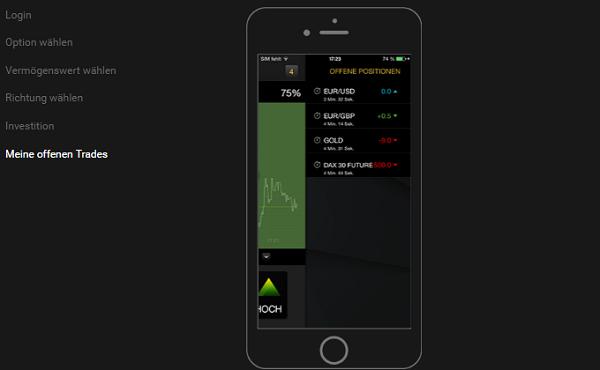 24option App Offene Trades