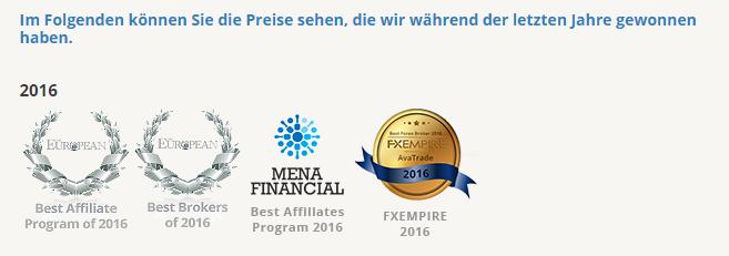 Auszeichnungen der letzten Jahre