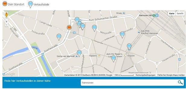BDSwiss Einzahlung Map