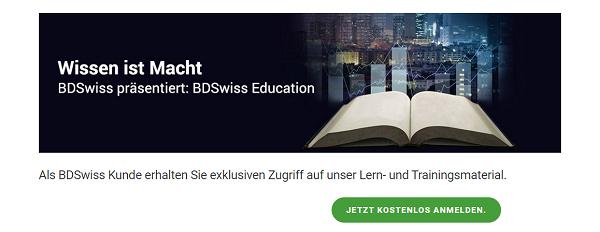 BDSwiss bietet zahlreiche Weiterbildungsmöglichkeiten