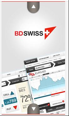 BDSwiss App Start screen
