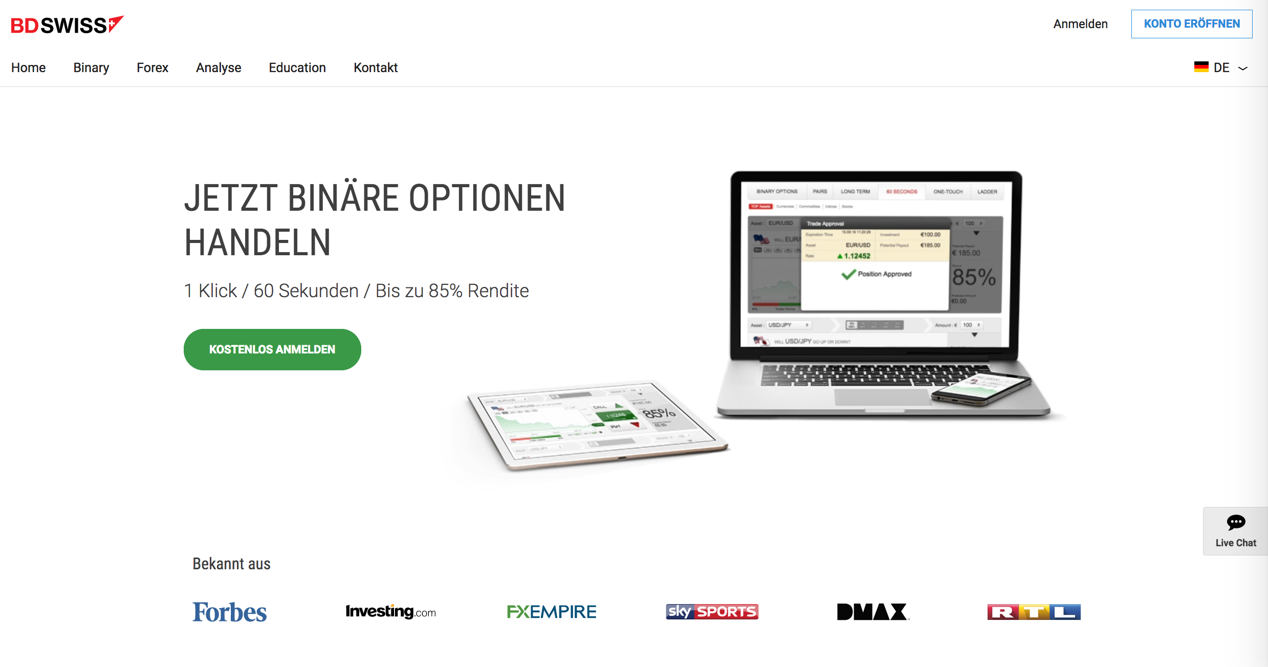 Best free binary options demo account promotions hit 92%