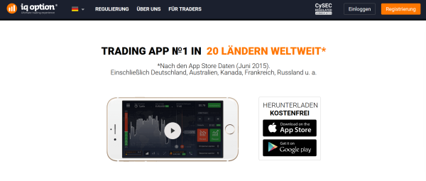 Mobile Trading Apps bei IQ Option