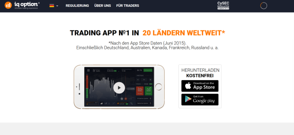 Die Trading App von IQ Option