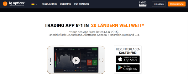 Die Mobile Trading App von IQ Option