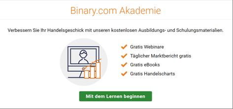 Die Trading-Akademie von Binary.com