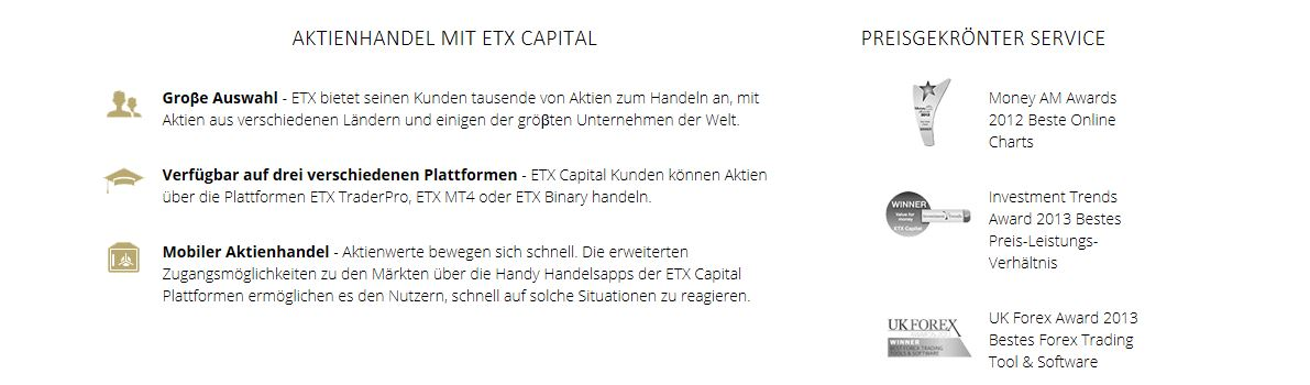Übersicht des Brokers ETX Capital