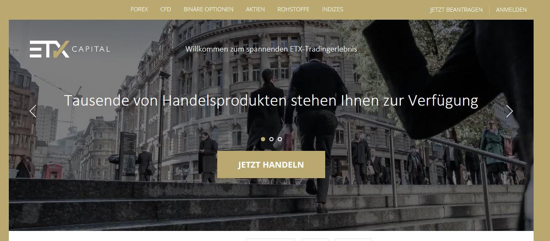 Die Homepage im Überblick
