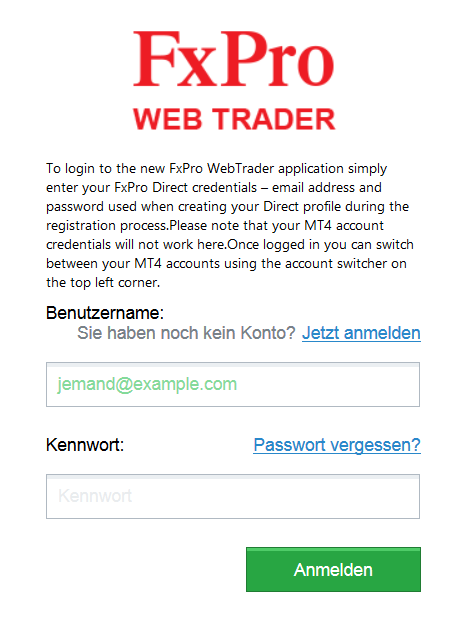 Webtrader login