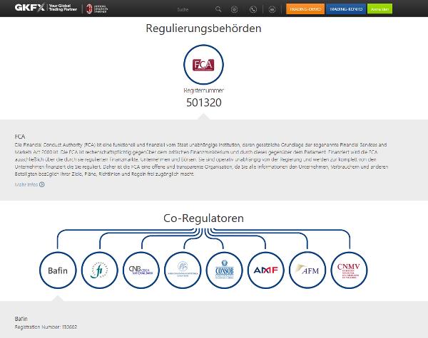 GKFX unterliegt der Regulierung verschiedener Behörden
