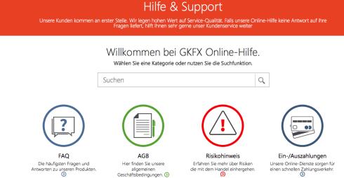 Übersicht des GKFX Supports