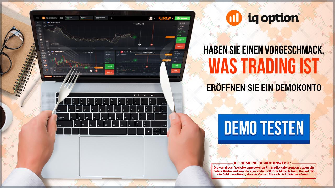 Mit dem Demokonto von IQ Option bekommen Trader einen Vorgeschmack auf den Handel