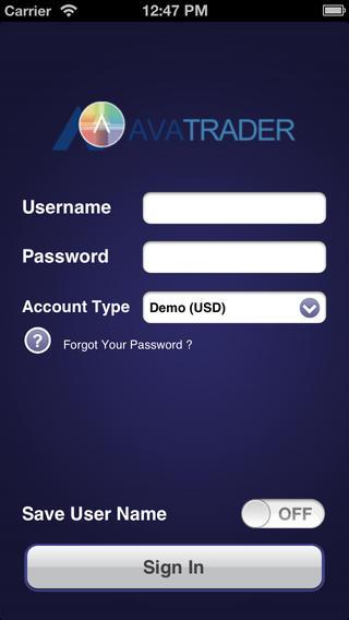 Mobiles Handeln mit AvaFX mit dem iPhone