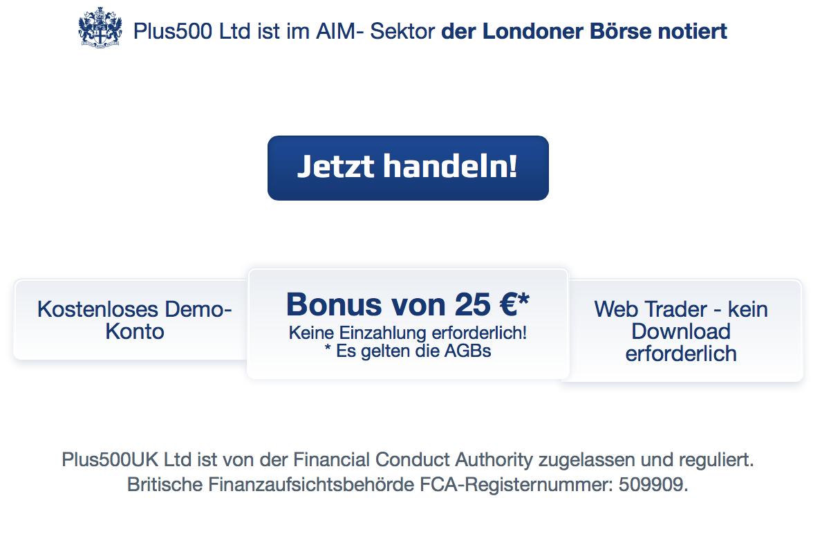 25-Euro-Bonus bei Plus500