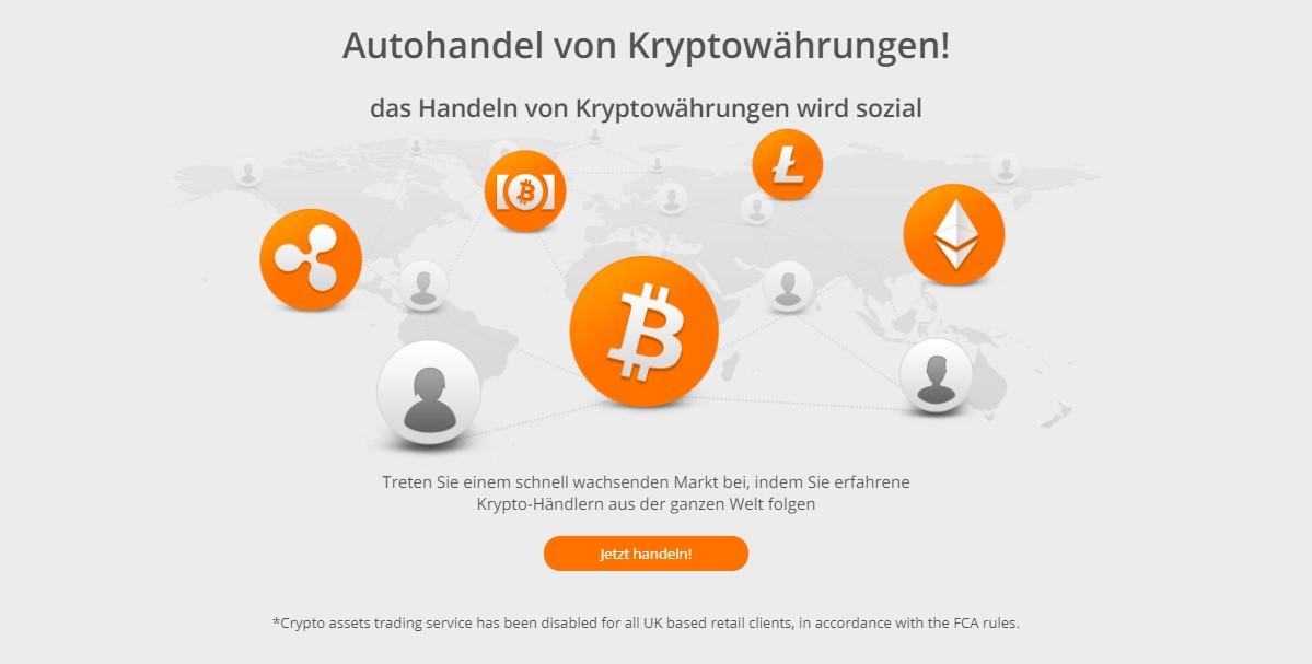 Zulutrade bietet den Autohandel bei Kryptowährungen an