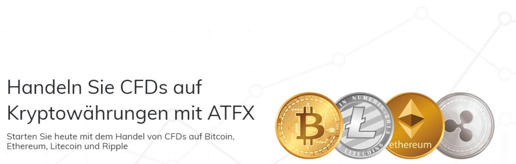 Handeln Sie CFDs auf Kryptowährungen mit ATFX