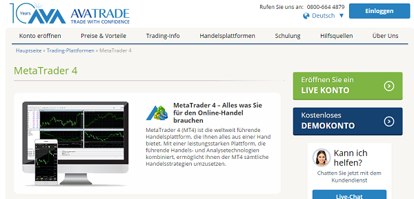 AvaTrade MetaTrader