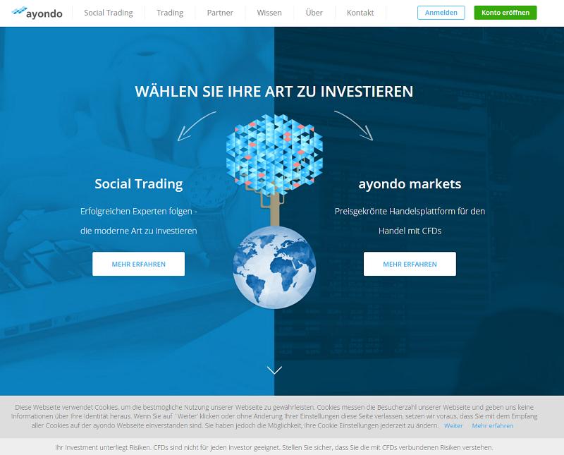 Ayondo Webseite