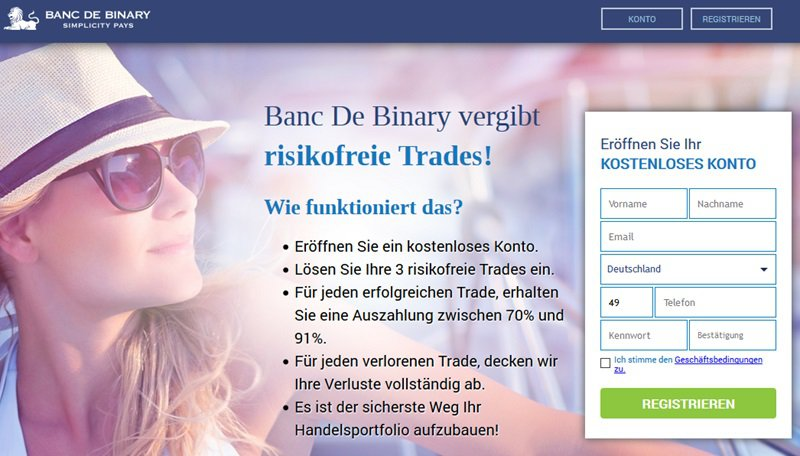 Binary options ohne einzahlung
