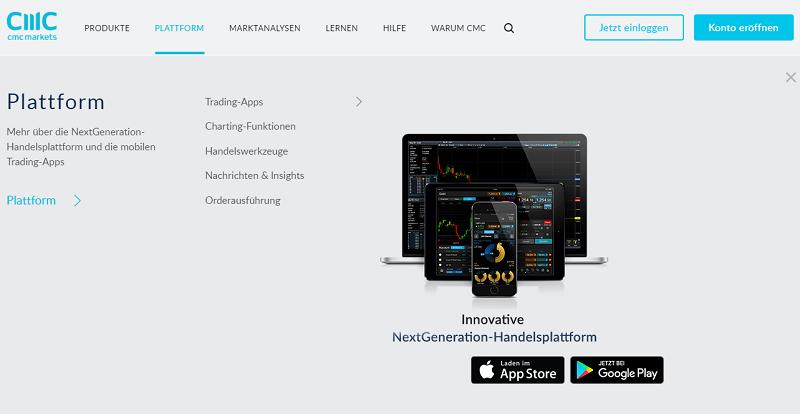 CMC Markets Handelsplattform