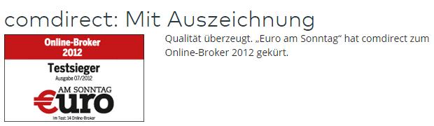 comdirect-Euro-Sonntag-Testsieg