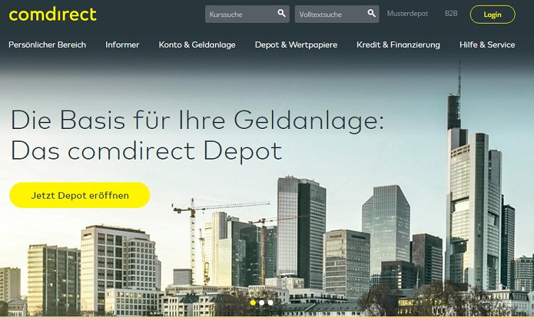Comdirect Webseite