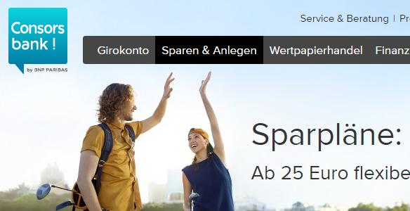 Consorsbank-Sparpläne-Banner