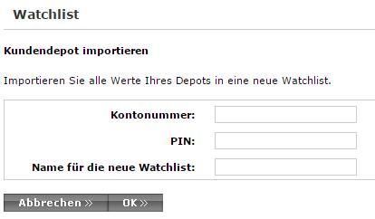 Consorsbank-Watchlist-Kundendepot-Import