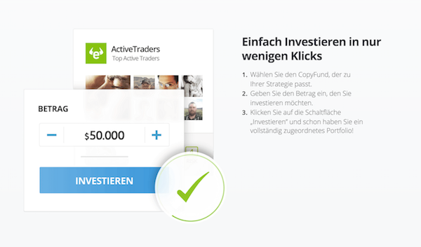 eToro CopyFunds Investition