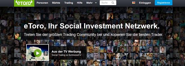 eToro CopyTrader Anleitung Social Investment Netzwerk