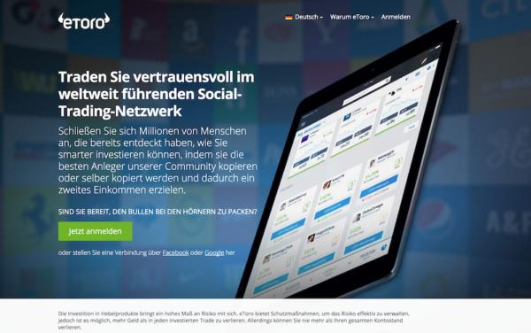 eToro - das weltweit führende Netzwerk für Social Trading
