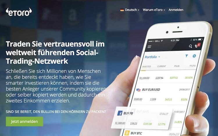 eToro ist als Social-Trading-Plattform bekannt, bietet jedoch auch den Handel mit Kryptowährungen an