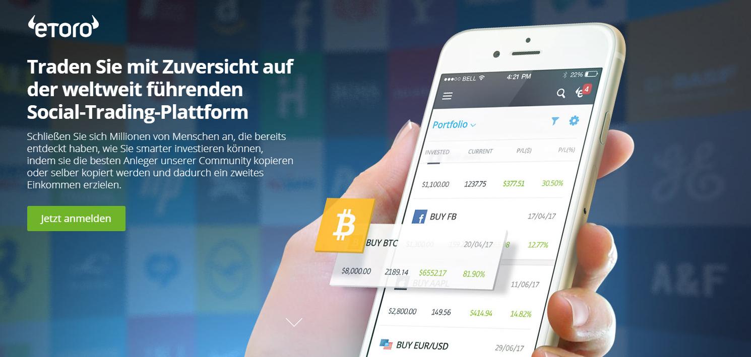 eToro App iPhone Android
