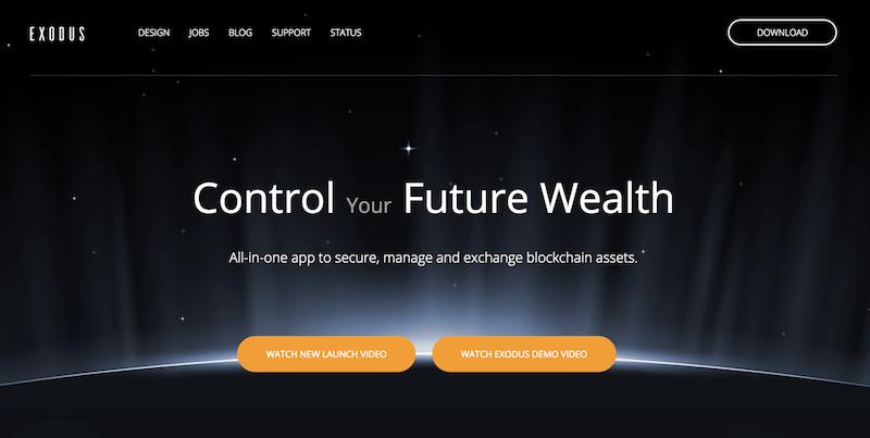 Exodus Wallet Webseite