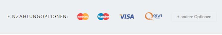 FIBO Group Einzahlungsoptionen