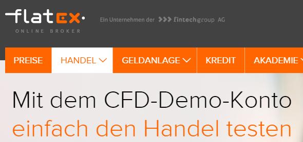 flatex-Demokonten-CFDs