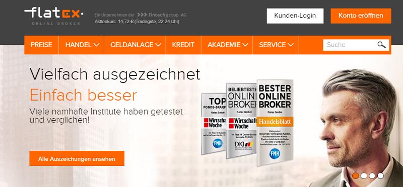 Flatex Homepage