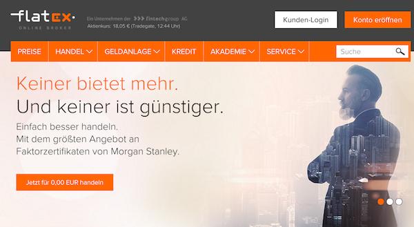 flatex Webseite