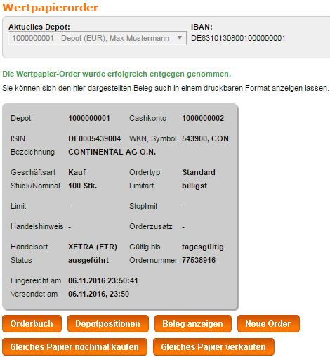 Flatex-WebFiliale-Demoversion