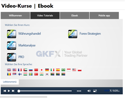 gkfx Handelszeiten Video-Kurse Ebook