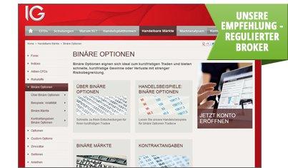 zur IG Markets Binäre Optionen Homepage