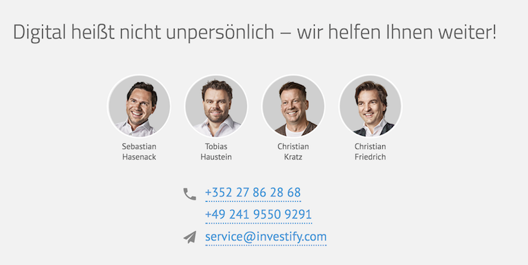 Investify Kontakt