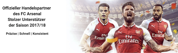 Markets.com Handelspartner des FC Arsenal