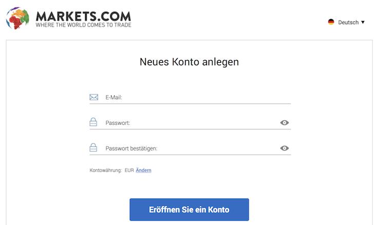 Markets.com Demokonto