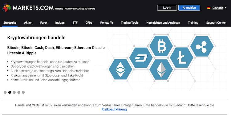 Markets.com Krypto Erfahrungen von BinaereOptionen.com