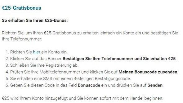 markets.com Bonus