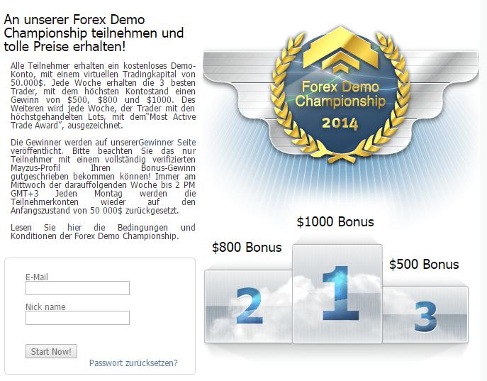 Forex Demo Championship
