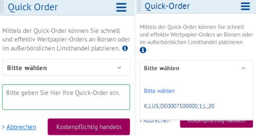 OnVista-Webtrading-Quickorder